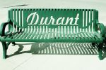 Green Durant OK Bench's By Chamber of Commerce